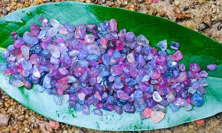 Pink sapphire gemstones directly from ceylon sapphire mines