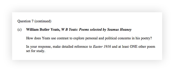 tips for writing essays in exams how means you need to be providing really solid examples of contrast in  yeats poetry and explaining what that contrast says about personal  concerns