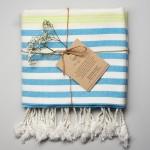 Whitehaven Turkish Towel Blue Green