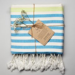 Whitehaven Turkish Towel Blue Green