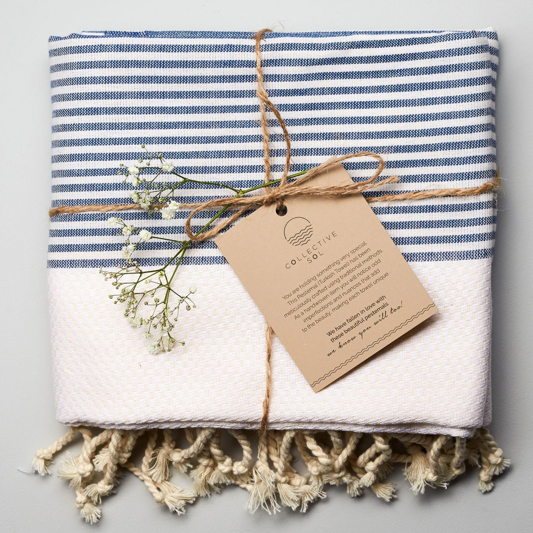 Freshwater Turkish Towel Blue