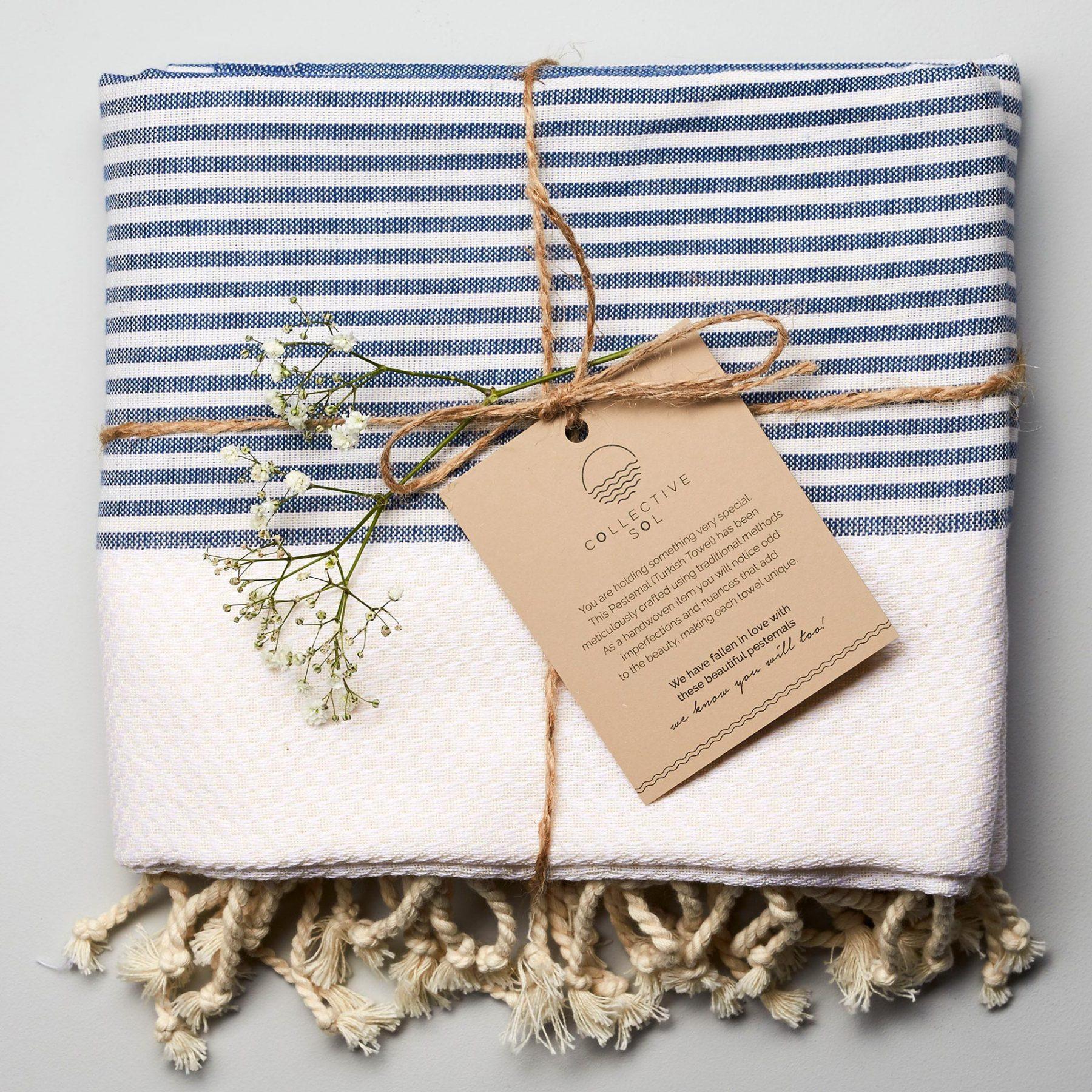 Freshwater Turkish Towel Blue