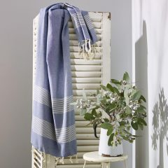 Little Cove Turkish Towel Blue