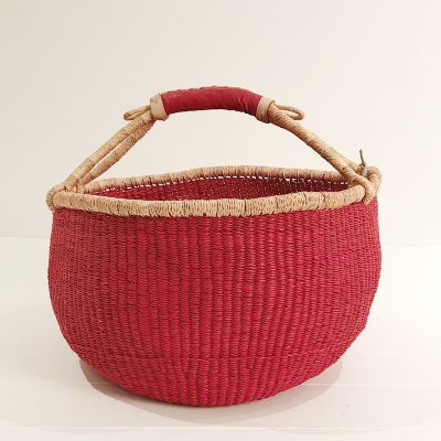 Fairtrade Market Bolga Basket Red