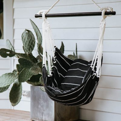 Hammock Noosa Swing Black & White Collective Sol