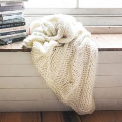 Claudette Knit Throw Ivory Cream Collective Sol