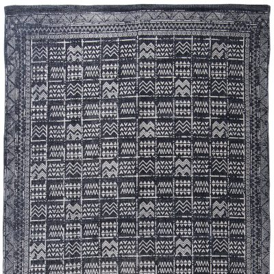 Mudcloth Tribal Rug Blue Collective Sol