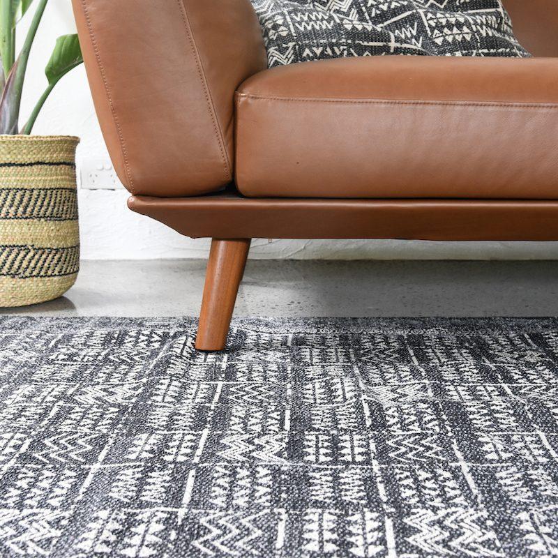 Tribal Charcoal Modern Rug