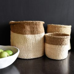 Natural Cream Grass Fairtrade Basket