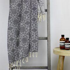 Amalfi Turkish Towel Charcoal