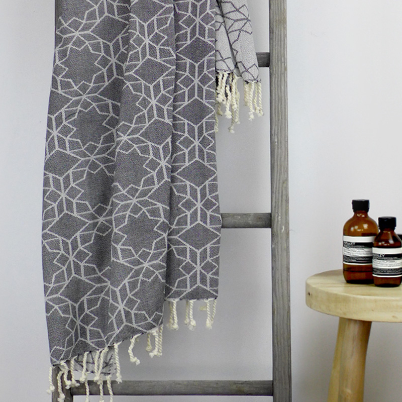 Amalfi Turkish Towel Charcoal