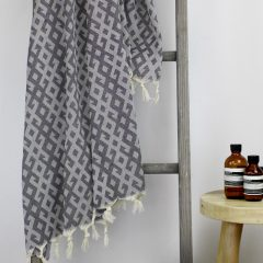 Mayan Turkish Towel Charcoal