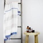 Capri Turkish Towel Latte Blue