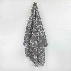 Santorini Turkish Towel Charcoal