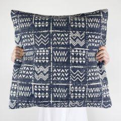 Tribal Stonewash Blue Cushion
