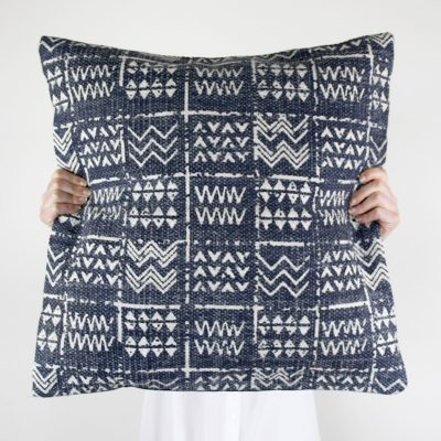 Tribal Stonewash Blue Cushion