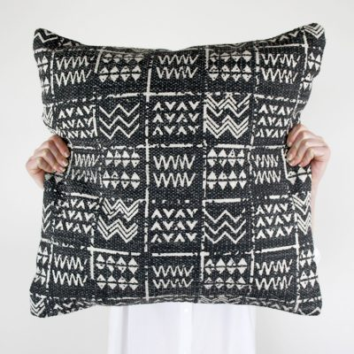 Tribal Cushion Black Charcoal