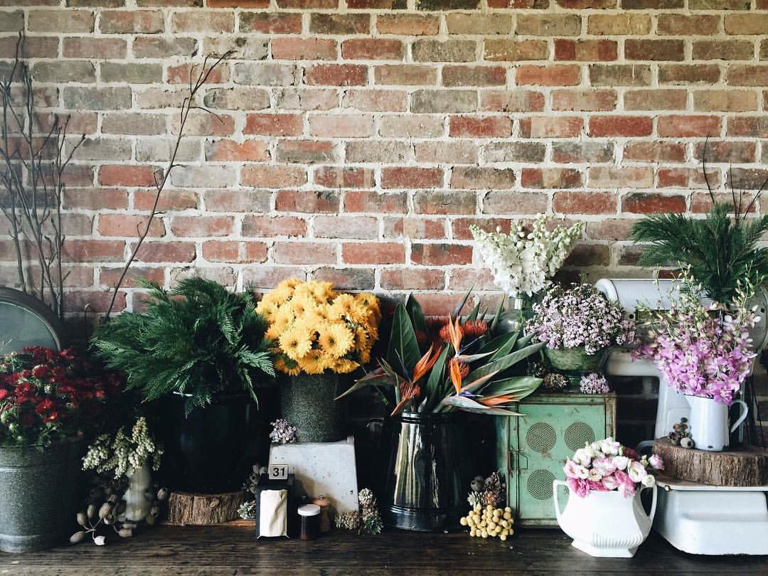 Flower arrangements at Bam Bam Bakehouse by Ness
