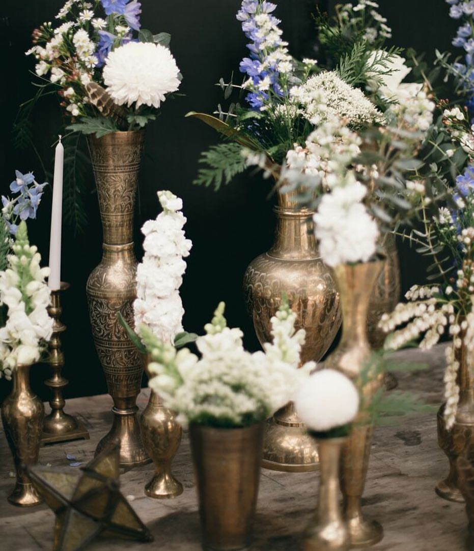 Flowers in interesting vessels make simple flowers wow