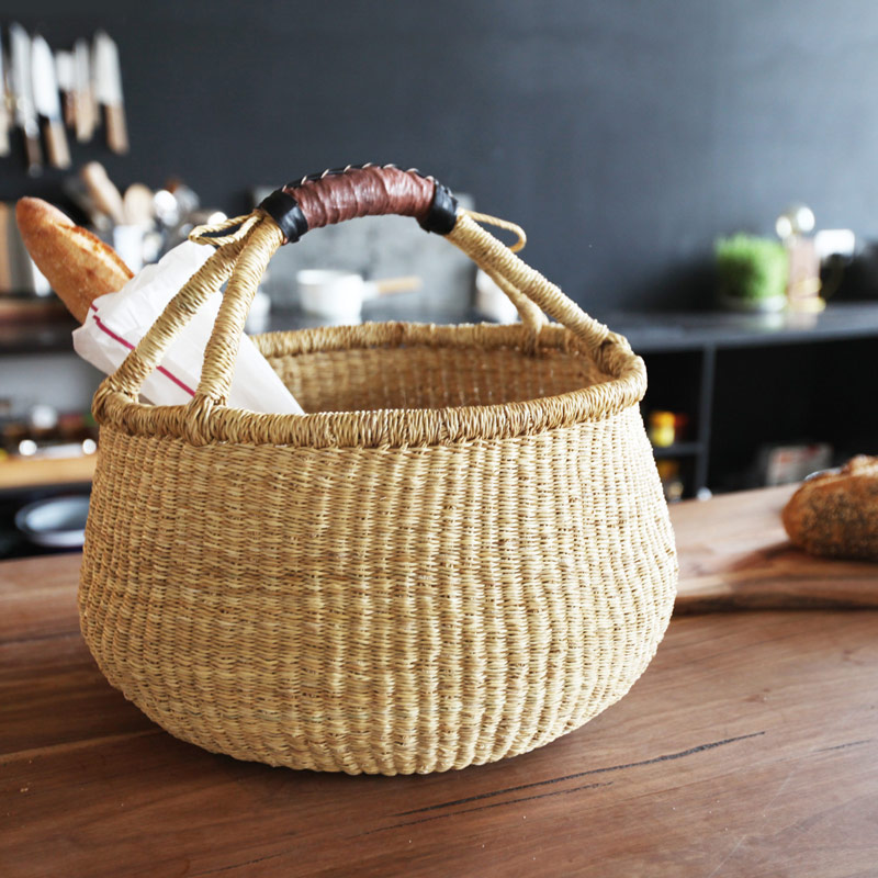 Natural Bolga Basket Fairtrade Collective Sol