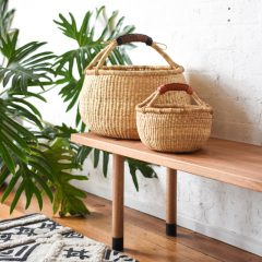 Natural Bolga Basket Large Baby Fairtrade