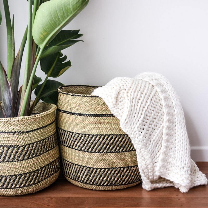 Collective Sol Grass Basket Collection Black