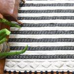 Matisse Black Modern Rug Detail Web