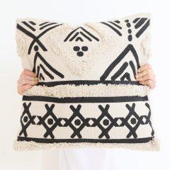 Tufted Black Diamond Cushion