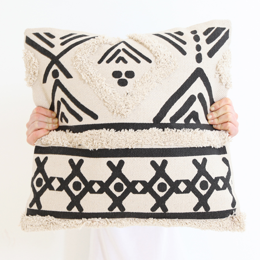 Tufted Black Diamond Cushion