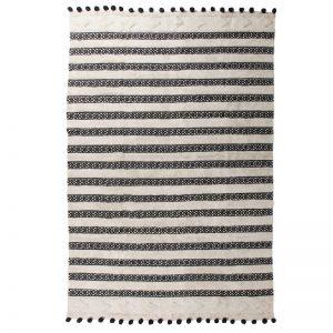 Matisse Black Pom Pom Rug