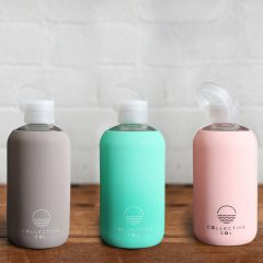 Turquoise Glass Water Bottle Collective Sol