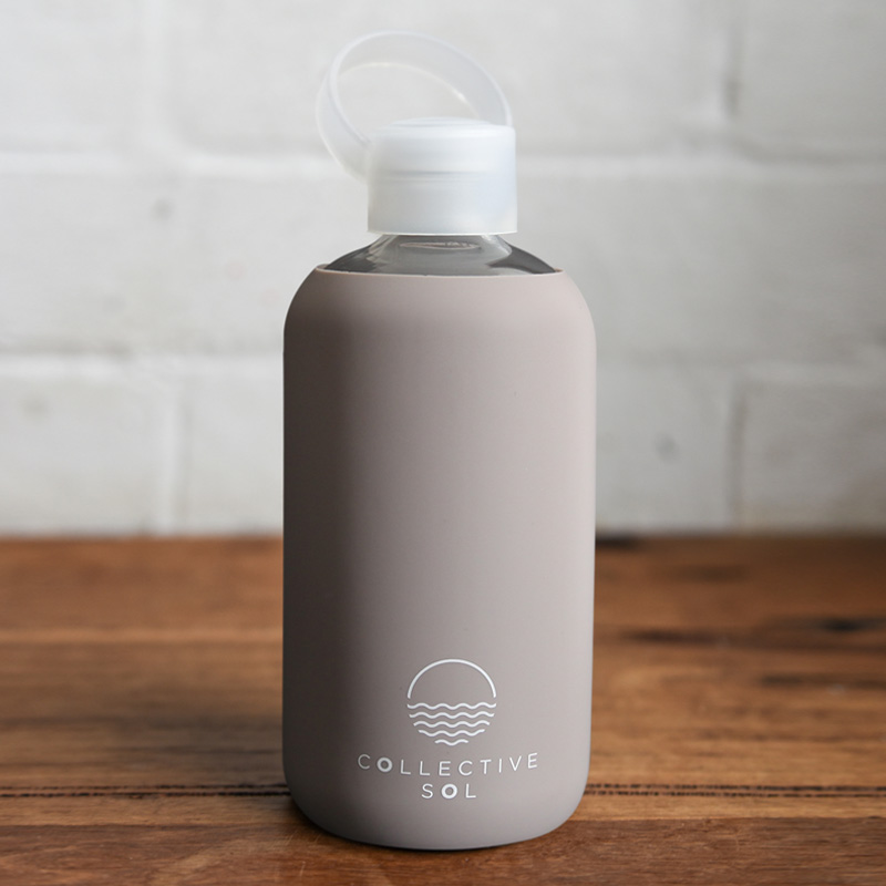 Grey Glass Water Bottle Collective Sol