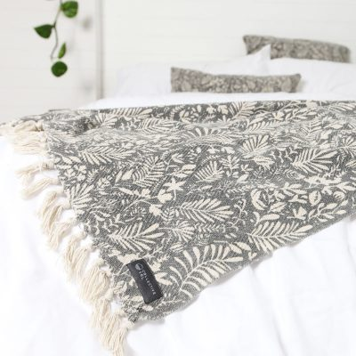 Lola Cotton Throw Grey Natural Collective Sol