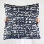 Tribal Cushion Blue Collective Sol
