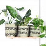 Fairtrade Planter Baskets Grass Natural Black Collective Sol