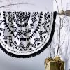 Havana Round Beach Towel Black Collective Sol