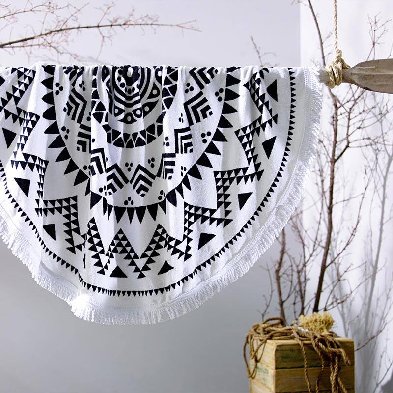 Acapulco Round Beach Towel White Collective Sol