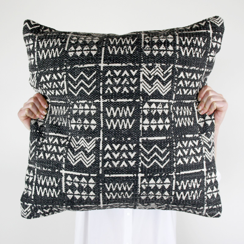 Tribal Cushion Charcoal Collective Sol
