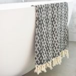 Mayan Turkish Towel Charcoal Collective Sol