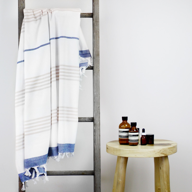 Capri Turkish Towel Blue Collective Sol