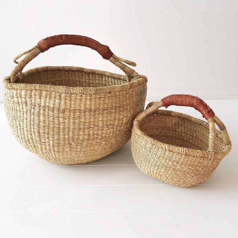 Mama Mini Market Basket Set Natural
