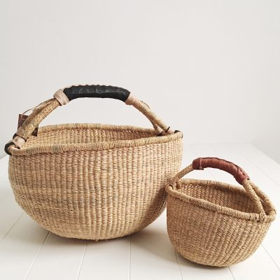 Mama & Mini Natural Bolga Market Baskets
