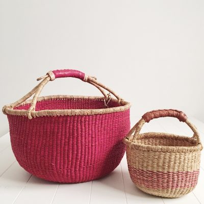 Mama & Mini Fairtrade Market Basket Set Red