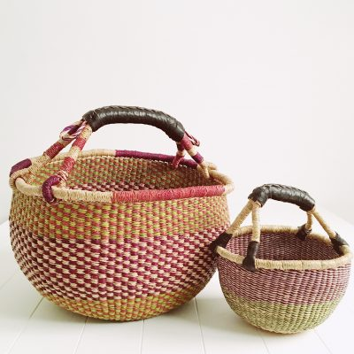 Mama & Mini Purple Fairtrade Market Basket Set