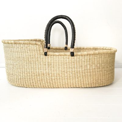 Natural Black Moses Basket Collective Sol