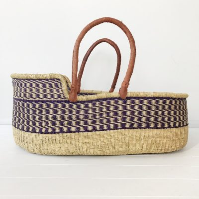 Violet Moses Basket Tan Handles Collective Sol