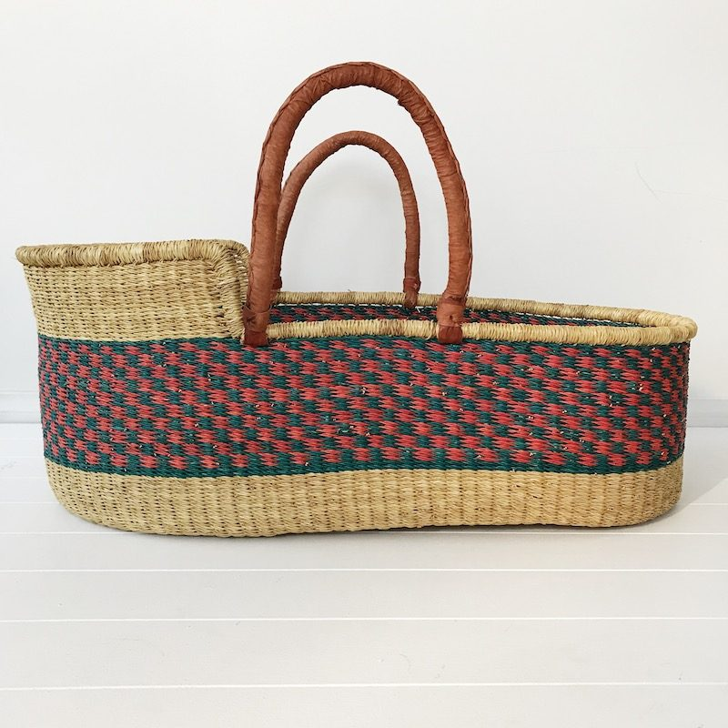 Bluebell Moses Basket Tan Handles Collective Sol