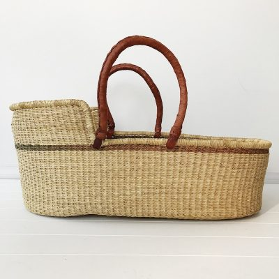 Fig Moses Basket Tan Handles Collective Sol