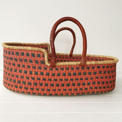 Peaches Moses Basket Tan Handles Collective Sol