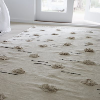 Willow Rug Natural Pom Pom Collective Sol